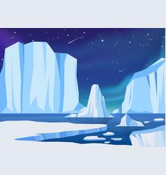 Arctic ice landscape vector