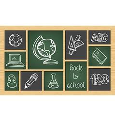 Back to school sketch icon set vector