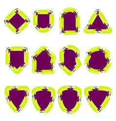 badge color set vector image