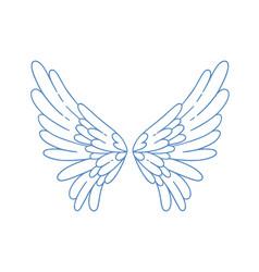 Beautiful angel or bird wings vector