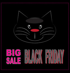 black friday big sale layout background banner vector image