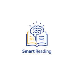 Brain and open book intellect development vector