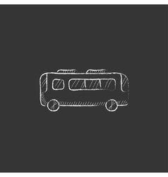 Bus Drawn in chalk icon vector