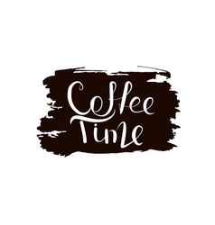 calligraphy coffee time vector image