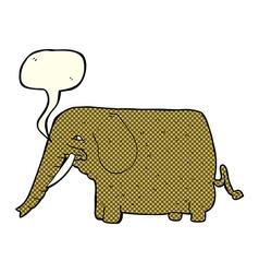 cartoon mammoth with speech bubble vector image