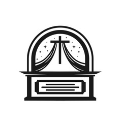 christian worship table designs vector image