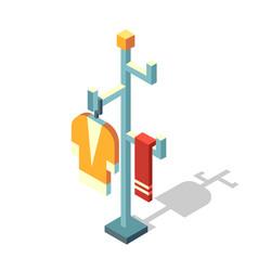 Coat rack isometric vector
