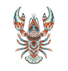 Colorful lobster vector