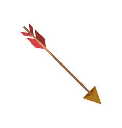 Colorful silhouette of hunting arrow without vector