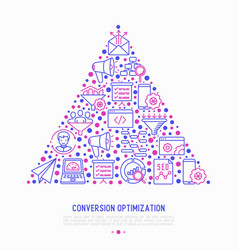 Conversion optimization concept in triangle vector