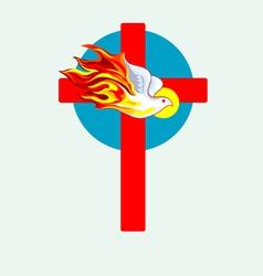 Cross n Holyspirit 2 vector image