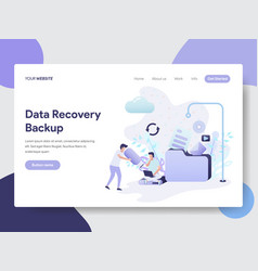data recovery backup concept vector image