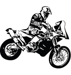 Extreme abstract motocross racer motorcycle vector