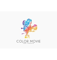 film camera logo Movie camera Creative logo vector image