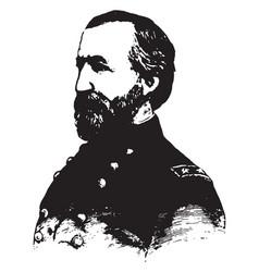 general william s rosecrans vintage vector image