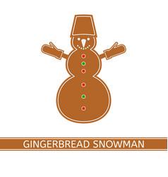 gingerbread christmas snowman vector image