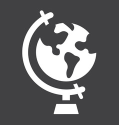 Globe solid icon world and geography vector
