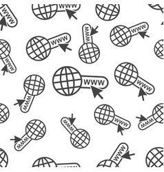Go to web seamless pattern background icon vector