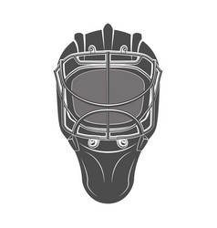 goalkeeper hockey helmet vector image