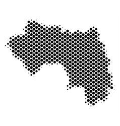 Halftone dot african guinea map vector