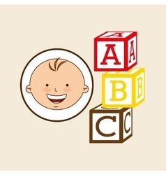 Happy baby toy design graphic vector