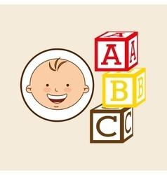 Happy baby toy design graphic vector