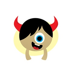 happy little monster vector image vector image