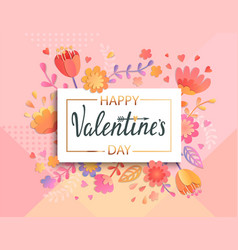 happy valentines day banner template vector image