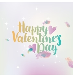 Happy valentines day with hearts vector