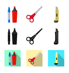 Isolated object of office and supply symbol set vector