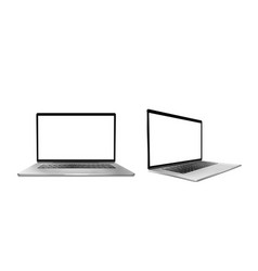 laptop computer with white screen and keyboard vector image