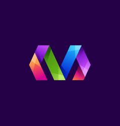Letter m logo design vector