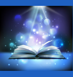 magic book realistic image vector image