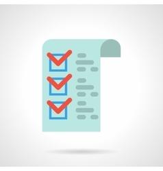 Medicines checklist flat color icon vector
