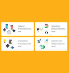 Message app communication innovation digital and vector