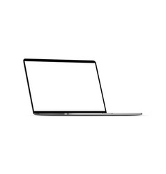 Modern laptop mockup with blank screen vector