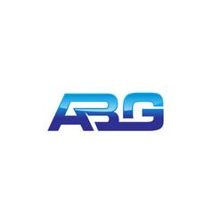 modern logo solution letter abg vector image