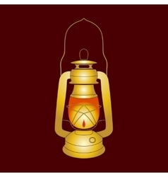 Oil Lantern over dark background vector image