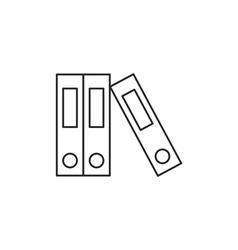 Outline document folder icon vector image