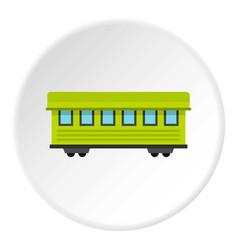 passenger train car icon circle vector image