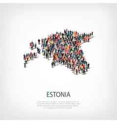 people map country Estonia vector image