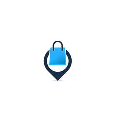 pin shopping logo icon design vector image