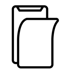 Protector display phone icon outline style vector