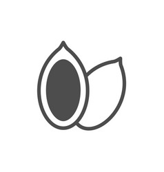 Pumpkin seeds glyph modern icon vector