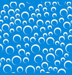 Random bubbles seamless pattern - contour circles vector