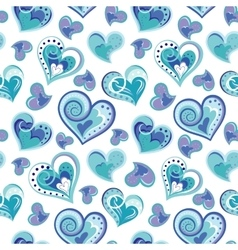Romantic seamless pattern with colorful hand draw vector image