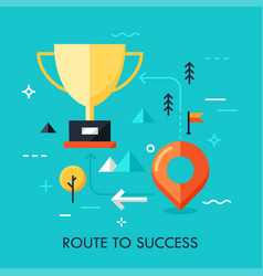 route to success concept vector image