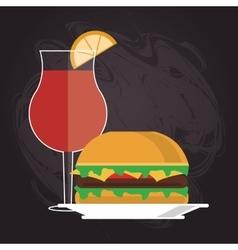Sandwich bread lunch snack icon vector