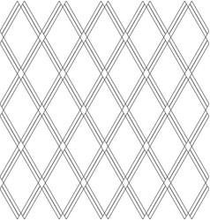 seamless diamonds pattern white geometric vector image