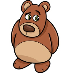 Shy bear animal cartoon vector